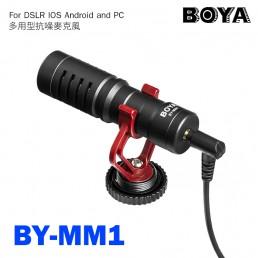 BOYA BY-MM1 通用型 電容式 高音質麥克風 心形指向 適用 手機 相機 電腦 附防風兔毛 iPhone DJI Osmo Canon Sony DSLR Cameras