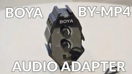 BOYA BY-MP4 3.5mm混音器 音頻轉接器 附手機相機輸出線 TRS TRRS