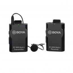 BOYA博雅BY-WM4 MK II 2代無線麥克風 小蜜蜂領夾麥微電影單眼直播採訪話筒