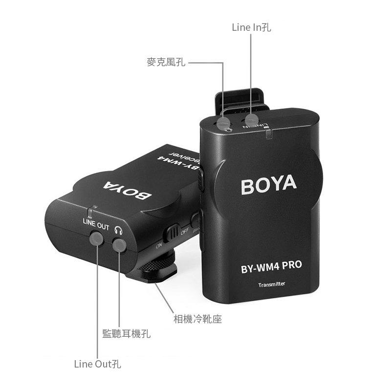 BOYA BY-WM4 PRO K1 2.4G 1對1 無線麥克風組 手機/相機 無線領夾麥 無線mic