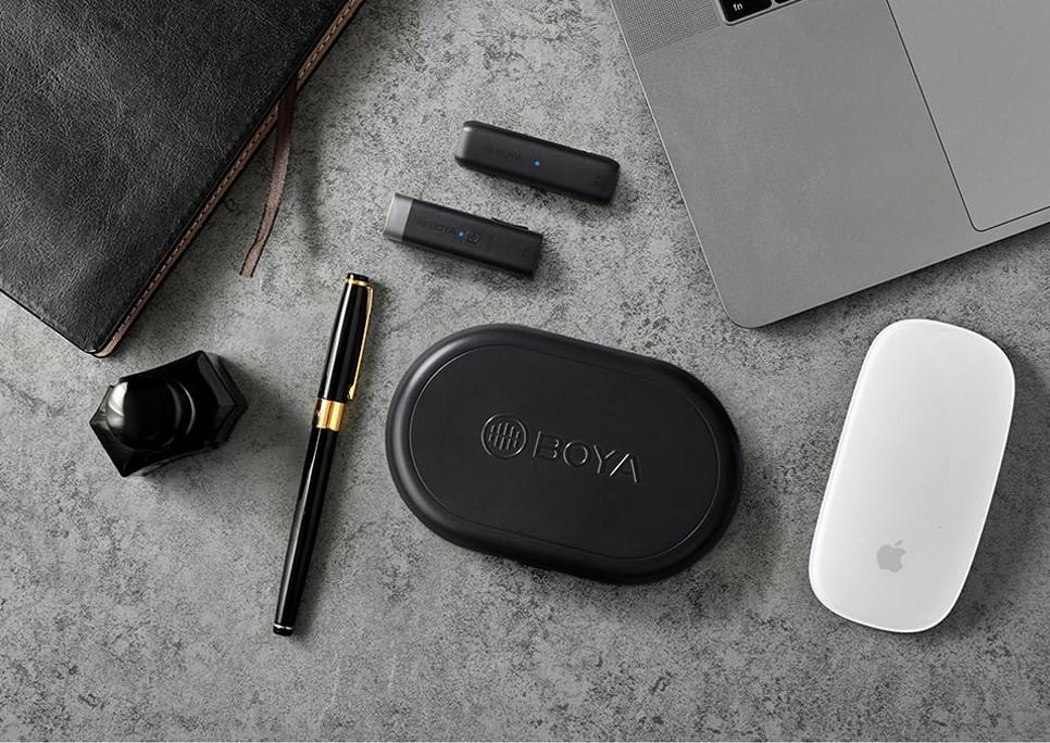 Boya BY-WM3U 2.4GHz 無線麥克風 3.5mm 手機 相機 平板 TYPE-C(接收+發射)