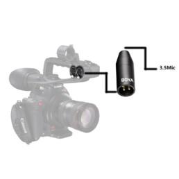 BOYA BY-35C-XLR (PRO) 麥克風 3.5mm TRS 母 - 卡儂 XLR公 轉接頭